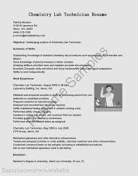 resume for lab technician chemistry  vosvetenet