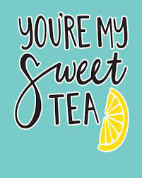 You Are My Sweet Tea Valentine Metal Travel Wall Sign Retro Art