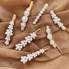 M MISM <b>Pearls</b> Hair Clips for Women <b>Fashion</b> Sweet Imitation ...