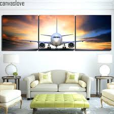 3 piece canvas art 3 piece canvas art airplane take off plane canvas painting posters and 3 piece canvas
