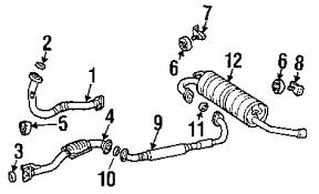 center pipe gasket 1998 00 front for 2000 toyota rav4 9008043034 center pipe gasket 1998 00 front 2000 toyota rav4 9008043034