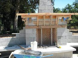 diy concrete block outdoor fireplace concrete