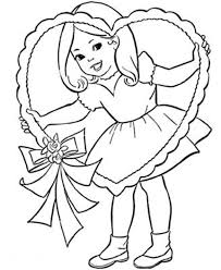 Small Picture Valentine Coloring Pages Little Girl Valentine Coloring pages of