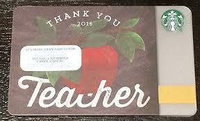 2016 starbucks canada thank you teacher collectible gift card no cash value