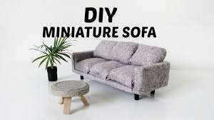 diy dollhouse furniture. Diy Miniature Couch/Sofa | Mini Doll House Furniture Tutorial Ikea Hack Dollhouse O