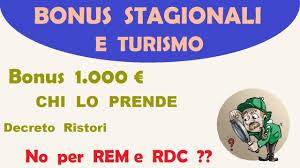 Bonus 1.000 euro Inps Decreto Ristori No RDC e REM ?? lo vediamo assieme -  YouTube