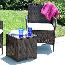 rattan chair and table set patio outdoor rattan furniture set cushioned garden table and chairs w rattan chair and table