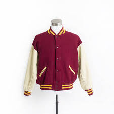 Image result for letterman jacket red and gold