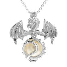 details about 925 sterling silver dragon pearl cage pendant necklace