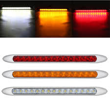 Slim Led Trailer Lights 2019 15 Leds Taillight Ultra Slim Stop Turning Signal Light For Trailer Truck Caravan 12v 24v Red Yellow White From Hehemmcar 22 21 Dhgate Com