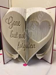 create your own piece of stunning book art with this beautiful gone but not forgotten bi cut and fold book folding pattern today