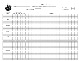 Weight Loss Record Sheet Free Printable Workout Log Sheets Record Sheet Bodybuilding