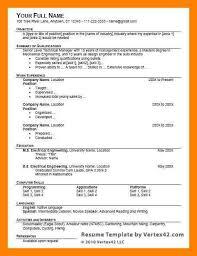 11+ Word Resume Format | Way Cross Camp