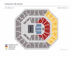 Sesame Street Live Colonial Life Arena Seating Chart With