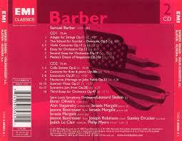 barber adagio for strings violin concerto orchestral chamber barber adagio for strings violin concerto orchestral chamber works