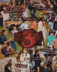 Stranger Things Season 3 Collage Wallpaper