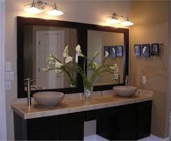 Vanity Large Framed Bathroom Vanity Mirrors Wood Framed Double Large Framed Bathroom Vanity Mirrors