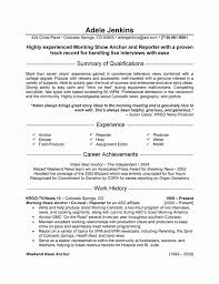 Journalism Resume Examples Resume Templates