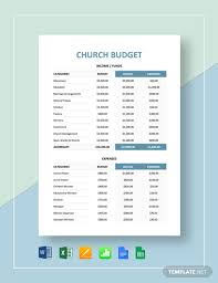 Church Budget Template Excel 20 Church Budget Templates Word Pdf Excel Apple Pages