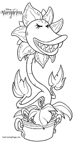 Monster Plants Of Vampirina Coloring Pages Get Coloring Page