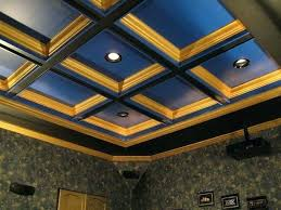 coffered ceiling lighting.  Ceiling Coffered Ceiling Lighting Young Recliner Home Theater Contemporary  Intended Coffered Ceiling Lighting N
