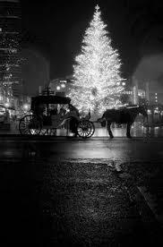 Znalezione obrazy dla zapytania christmas night black and white