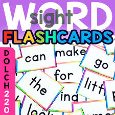 Dolch 220 Sight Word Flash Cards Chart