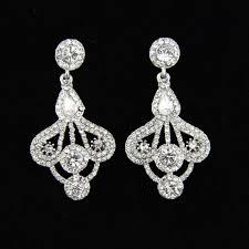unique designed wedding bridal earrings sparkle rhinestone art deco silver chandelier post earrings bridesmaid gift bridal jewelry uk bridal pearl jewelry