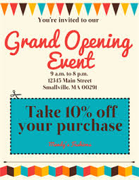 Free Grand Opening Flyer Template Grand Opening Flyer Template Free Rota Template