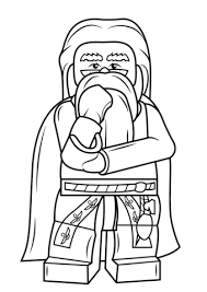 Small Picture Lego Albus Dumbledore coloring page Free Printable Coloring Pages