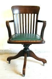 vintage wooden office chair. Antique School Desk Swivel Chair Vintage Wooden Office Bankers I