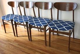 set of 4 dining chairs. Mcm Set Of 4 Dining Chairs Blue Pattern 1 T
