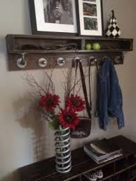 Reclaimed Wood Coat Rack Shelf Preview DIY Industrial Retro Wall Mount Iron Pipe Shelf Storage 68