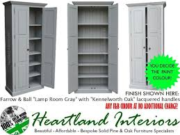 Painted Kitchen Cupboard Solid Pine Cupboard 2 Metre Tall Painted Kitchen Larder Storage