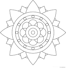 594x600 easy mandala coloring page 6 2 736x768 bunch ideas of printable simple mandala drawing ideas in form