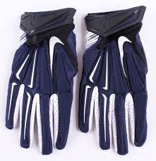 lot of 2 trevor bates patriots game used gloves the players locker