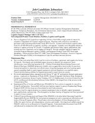 Logistics Management Sample Resume Logistics Management Specialist Resume Shalomhouseus 23