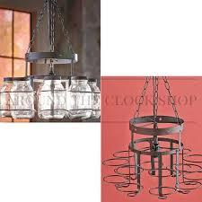 wrought iron mason jar chandelier canning jar light country rustic lighting save