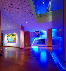 creative led lighting. Rutic Blue Led Lights Decors Ideas On The Stairs And Wall Picture As Well Wooden Creative Lighting I