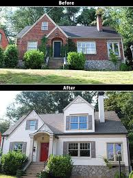 imposing painting exterior brick before and after on intended best 25 painted houses ideas 2