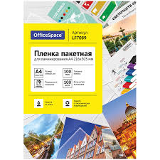 "<b>Пленка для ламинирования</b> ""OfficeSpace"", А4, 100 листов ..."