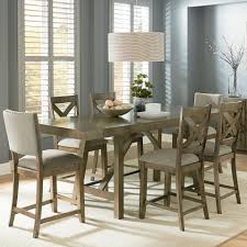 counter height dining table set. Standard Furniture Omaha Grey Trestle Table Dining Set - Item Number: 16696+2x97+ Counter Height T