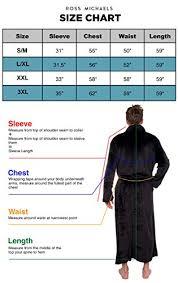 Ross Size Chart Ross Michaels Mens Hooded Long Robe Full Length Big Tall Bathrobe White Xxxl