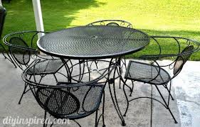 patio table and chair update painting