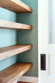how to put shelves in a closet floating wood shelves yellow brick home installing closetmaid wire