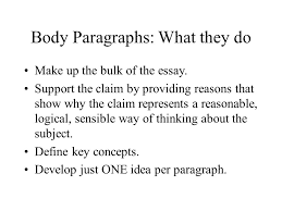 body paragraphs what they do make up the bulk of the essay  body paragraphs what they do make up the bulk of the essay
