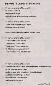 if i were in charge of the world poem by judith viorst poem hunter