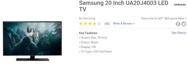 samsung tv sizes. samsung 20 inch ua20j4003 led tv \u20a6 38,150 \u2013 50,150 tv sizes ,