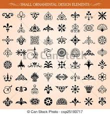 Small Picture Vector Clip Art of Small Ornamental Design Elements and Page