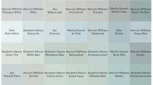 blue green gray paint swatches